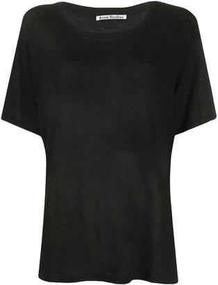 Acne Studios short-sleeved linen T-shirt