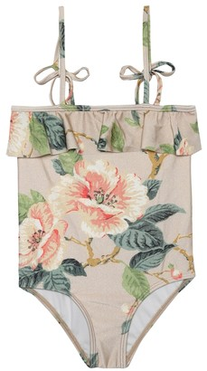 Zimmermann Kids Kirra floral swimsuit