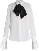 Isa Arfen Bow-front cotton shirt