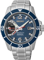 Seiko Sportura Kinetic Direct Drive Mens Stainless Steel Watch SRG017