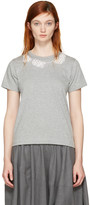 Comme des Garcons Grey Pearl Necklace T-shirt