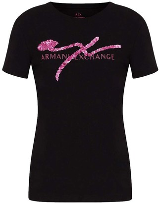 Armani Collezioni Armani Exchange T-shirt Nero Donna