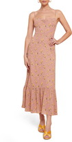 Reformation Emersyn Floral Ruffle Hem Maxi Dress