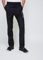 Lanvin Navy Blue Arrow Embroidery Trouser