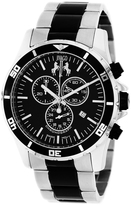 Jivago JV6128 Men's Ultimate Black & Silver Stainless Steel Chronograph Watch