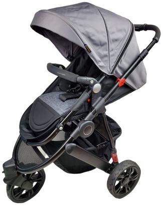 Aussie Baby Explorer 3 Wheels Pram - Grey