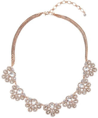 Simulated Crystal Frontal Statement Necklace