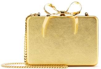 Oscar de la Renta Leather Bow Rogan Clutch