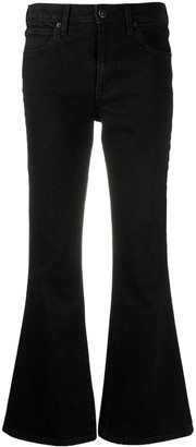 SLVRLAKE Crystal mid-rise flared jeans