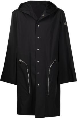 Moncler + Rick Owens Nessbit woven hooded coat