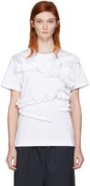 Cédric Charlier White Ruffle T-shirt