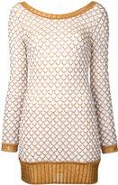 Missoni mini jumper dress - women - Cotton/Cupro/Polyester - 40