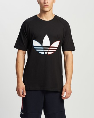 adidas Men's Black Printed T-Shirts - Tricolour Tee - Size M at The Iconic