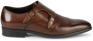 To Boot Benjamin Leather Double Monk-Strap Shoes