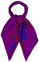 Hermes Sois Pavois Dip Dye Silk Scarf