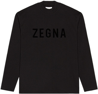 Fear of God Exclusively for Ermenegildo Zegna Oversized Long Sleeve T Shirt in Black | FWRD