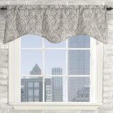 Style Master Stylemaster Home Products Twill and Birch Lola Lined Scalloped Valance with Cording, 52 by 17-Inch, Slate