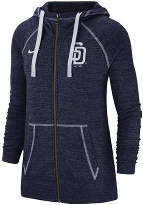Nike Women's Navy San Diego Padres Gym Vintage Team Full-Zip Hoodie