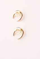 Missguided Moon Stud Earrings gold