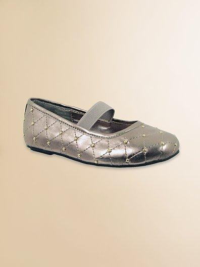 Stuart Weitzman Audrey Diamond-Stitched Flats
