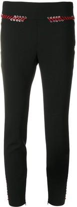 Alexander McQueen lace trim skinny trousers