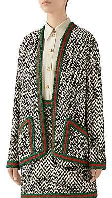 Gucci Women's Tweed Braid-Trim Cardigan Jacket