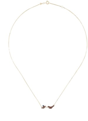 ALIITA 9kt yellow gold Nadadora Completo necklace