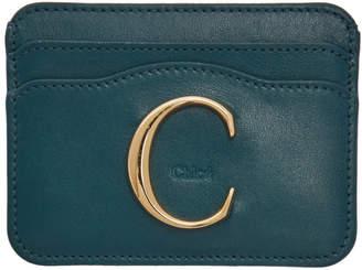 Chloé Navy C Card Holder