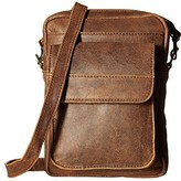 Scully Squadron Travel/Passport Shoulder Tote (Antique Brown) Tote Handbags