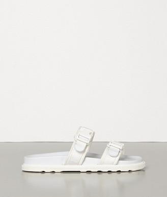 Bottega Veneta Sandals In Calf And Canvas