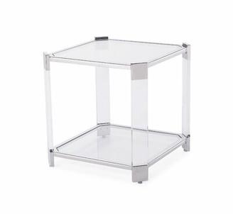 Blink Home Burbank End Table Color: Silver