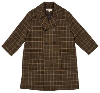Caramel Eagle Check Tweed Coat (3-6 Years)