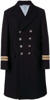 Gucci Embroidered Double-Breasted Coat