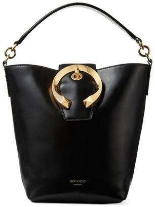 Jimmy Choo Leather Madeline Bucket Bag