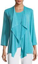 Caroline Rose Gauze Knit Draped Jacket, Petite