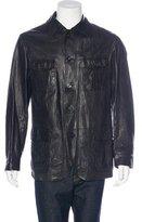 Armani Collezioni Lambskin Field Jacket