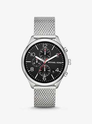 Michael Kors Merrick Silver-Tone Mesh Watch