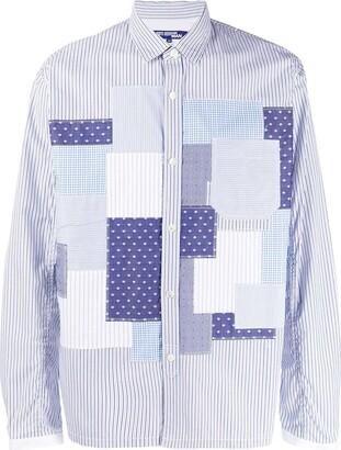 Junya Watanabe Patchwork Striped Cotton Shirt
