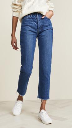 TRAVE Harper Crop Slim Straight Jeans