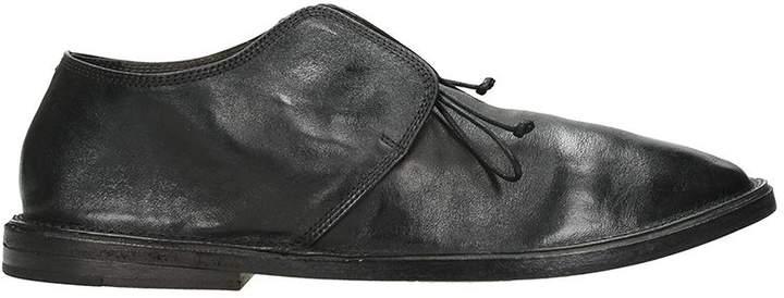 Marsèll Slip On Black Leather Sneakers