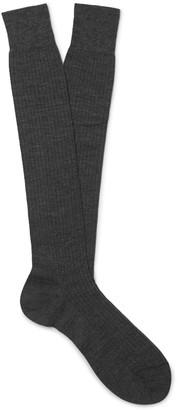 Melange Home Ribbed Merino Wool Over-The-Calf Socks