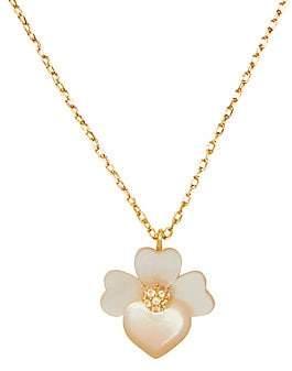 Kate Spade Women's Precious Pansy Flower Cubic Zirconia Pendant Necklace
