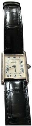 Cartier Tank Louis Black Silver Watches