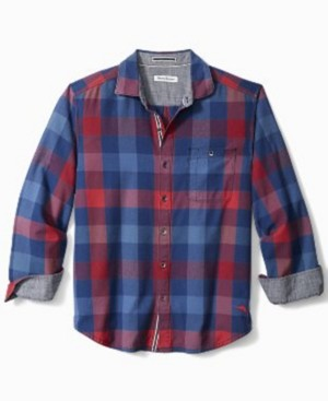 Tommy Bahama Men's Flannel Camano Bay Checked Shirt