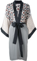 Alberto Biani multi-print belted coat - women - Silk/Viscose - 40