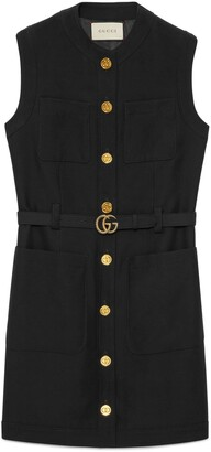 Gucci Cady silk wool vest with Double G