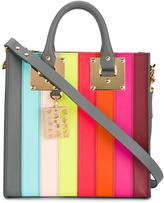 Sophie Hulme 'Square Albion' stripe tote - women - Leather/Suede - One Size