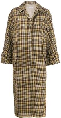 Alberto Biani Plaid Single-Breasted Coat