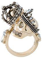 Alexander McQueen king & queen skull ring