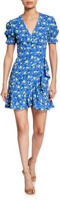 Diane von Furstenberg Emilia Floral Short-Sleeve Wrap Dress